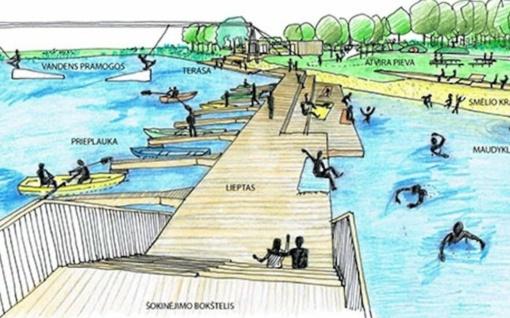 Baisogalos tvenkinyje rengiamasi įrengti vandens pramogų parką
