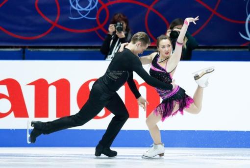 Lietuvos šokių ant ledo pora A.Reed ir S.Ambrulevičius Italijoje – šešti