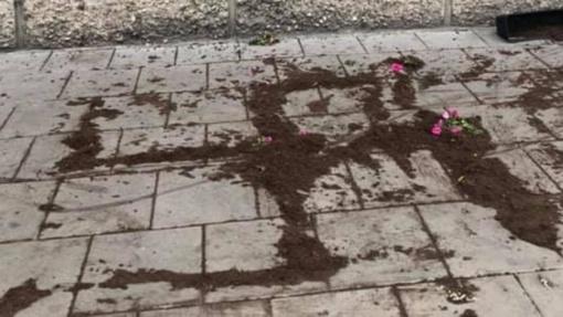 Vilniuje iš žemių supylus svastiką policija pradėjo tyrimą dėl nesantaikos kurstymo
