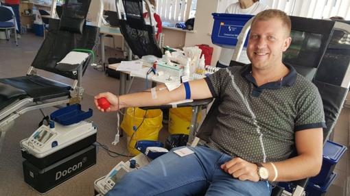 Vienas kraujo donoras padeda trims ligoniams