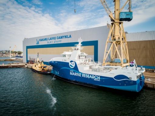 Klaipėdoje pastatytas mokslinių tyrimų laivas dirbs Farerų salose