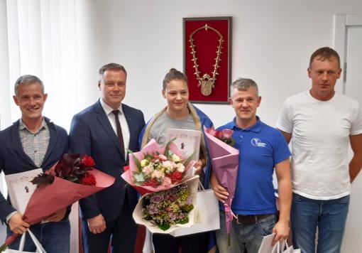 Europos bokso čempionei G. Diekontaitei – mero sveikinimai