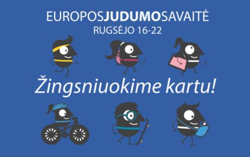 """Kviečia Europos judumo savaitė 2019 – """"Žingsniuokime kartu!"""""""
