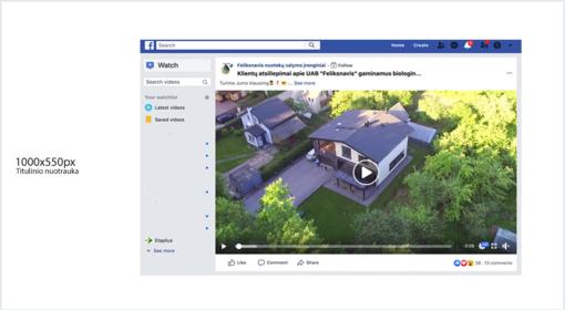 Galimybė publikuoti video įrašus iš Facebook