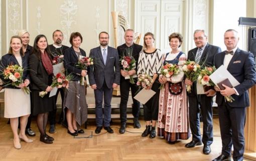 M. Kvietkauskas įteikė svarbiausius Kultūros ministerijos apdovanojimus