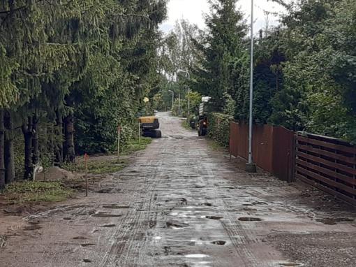 Remontuojamos Kretingos rajono sodininkų bendrijų gatvės