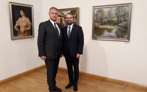 Lietuvos ir Latvijos kultūros ministrai Biržuose kartu paminėjo Baltų vienybės dieną