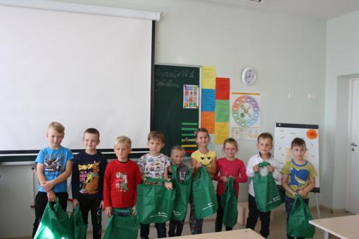 Edukacinės pamokos apie aplinkosaugą 1-4 klasių mokiniams Kužių mokykloje