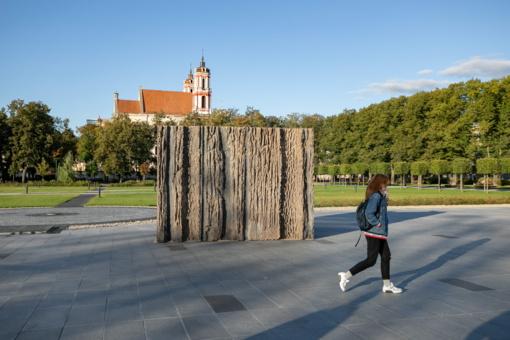 Laisvės kalvos maketas įsikūrė Lukiškių aikštėje