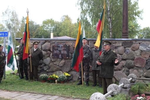 Atidengta Kiauklių krašto 1919 – 1920 m. Nepriklausomybės kovų dalyvių įamžinimo lenta