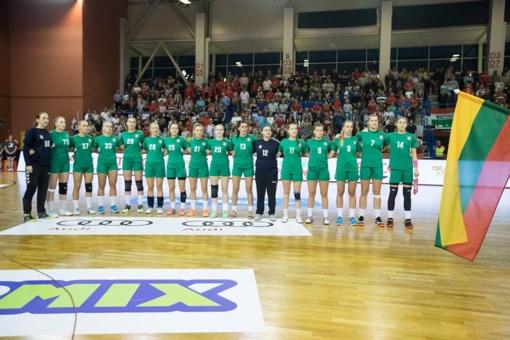 Lietuvos moterų rankinio rinktinė nusileido Juodkalnijai