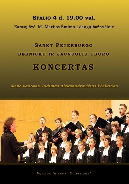 Zarasų Švč. M. Marijos Ėmimo į dangų bažnyčioje vyks unikalus, profesionalaus muzikinio lygio chorinės muzikos koncertas