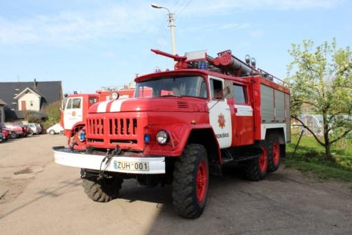 Pasvalio rajone kilo gaisras bute