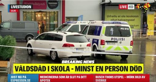 Profesinėje mokykloje Suomijoje nužudytas žmogus, dar dešimt – sužeista (vaizdo įrašas)