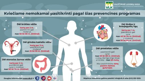 Vyresnio amžiaus gyventojai kviečiami daugiau dėmesio skirti ligų prevencijai