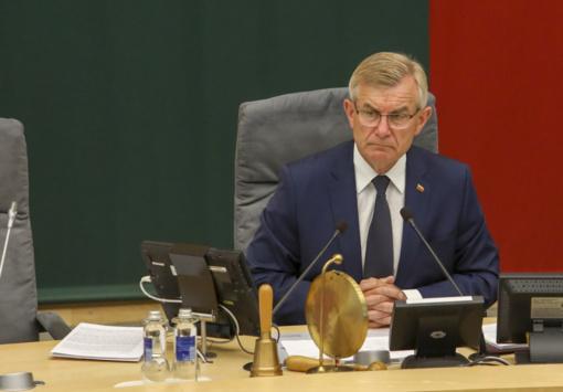 V. Pranckietis  prašo kitą savaitę surengti jo atšaukimo iš Seimo pirmininko procedūrą