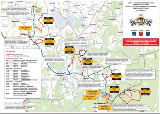 Spalio 4-5 d. ralio žemėlapis ir programa