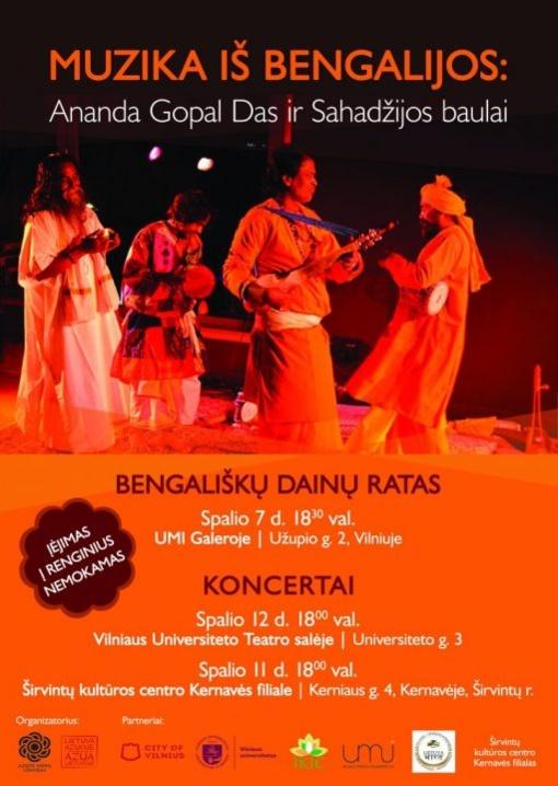 Į Vilnių atvyksta unikalios UNESCO saugomos bengališkos baulų dainavimo tradicijos meistrai