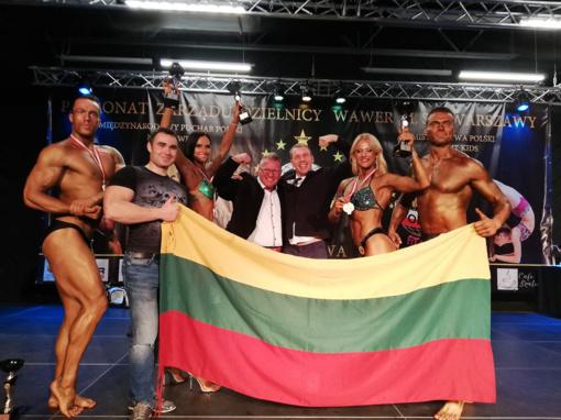 Lenkijos kultūrizmo ir fitneso taurės varžybose lietuviai iškovojo keturis medalius