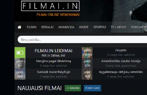 LRTK paskelbė: bus blokuojamos filmai.in ir torrent.ai svetainės