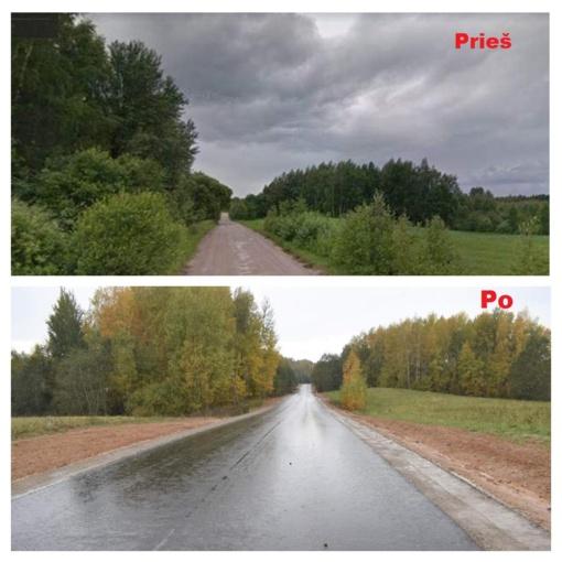 Išasfaltuotas dar vienas rajoninis kelias
