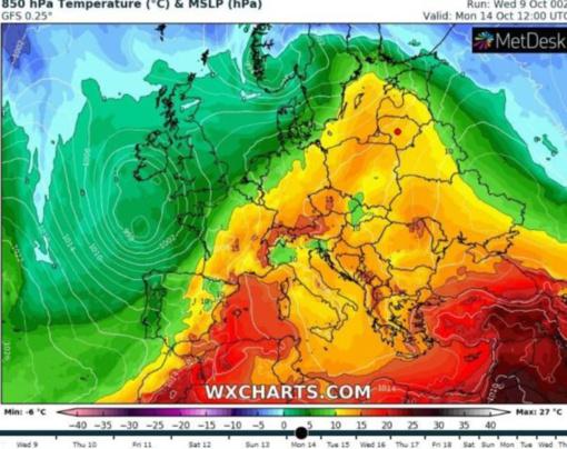 Europą užlies šilumos banga: vietomis oras gali įkaisti iki 30 laipsnių