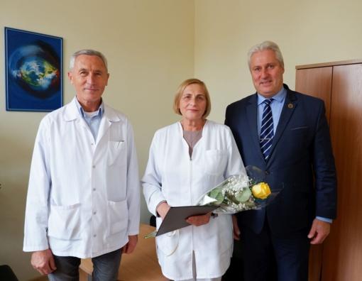 Padėkojo gydytojai Nijolei Marcikonienei