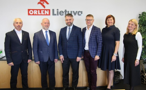 """""""ORLEN Lietuva"""" ir Savivaldybės vadovai susitarė dėl tolesnio bendradarbiavimo"""