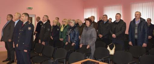 Pagerbti ilgamečiai Varėnos rajono priešgaisrinės apsaugos darbuotojai