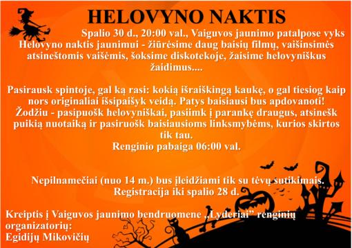 Helovyno naktis Vaiguvoje