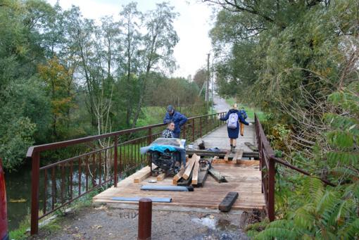 Atnaujinamas senasis tiltas į Darbėnus