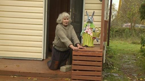 Vaizdas pribloškia: vaikščioti negalinti močiutė priversta šliaužioti