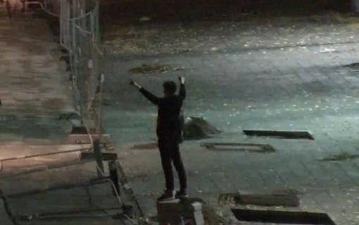 Laisvės alėją niokojęs jaunuolis sulaikytas