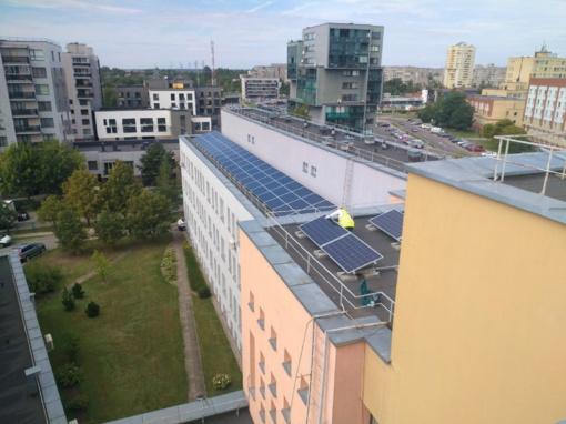 Vilniaus rajono sveikatos priežiūros įstaigose įrengtos saulės jėgainės startavo visu pajėgumu