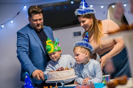 E. ir M. Vitulskių sūnaus gimtadienis – su interaktyviais žaidimais, robotais ir kosmosu