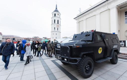 Vidaus saugumo dieną Katedros aikštėje – VRM tarnybų įranga ir technika