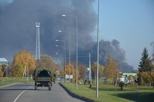 Dėl gaisro Alytuje ekstremali situacija neskelbiama
