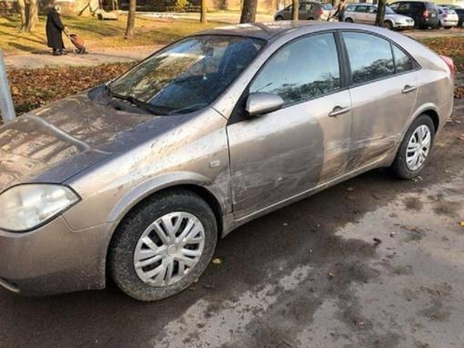 Kas apgadino mašiną?