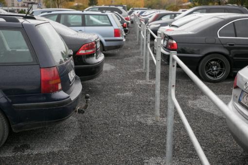 Vilniuje įrengta 1200 naujų vietų automobiliams kiemuose