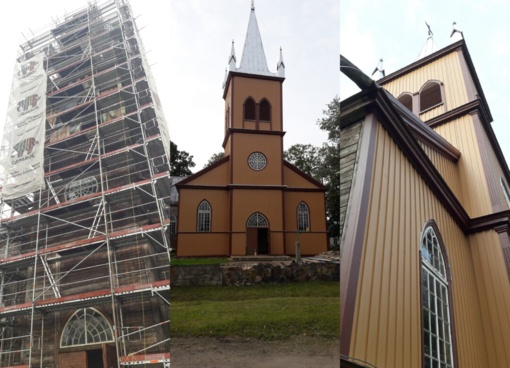 Salų bažnyčios restauracija: šių metų darbai baigti