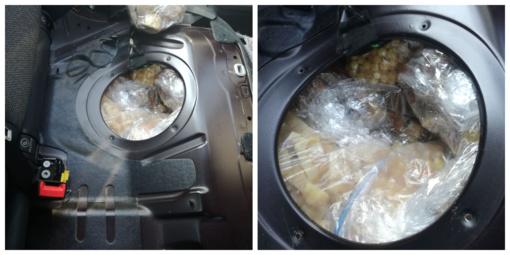 """Klaipėdoje pareigūnai sulaikė """"gintaro kurjerę"""" su kontrabanda iš Rusijos"""