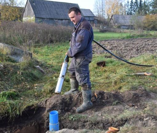 Problema išspręsta: vanduo jau tiekiamas Mikniškių kaimo gyventojams