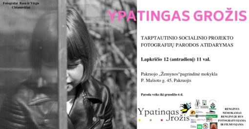 """Tarptautinio socialinio projekto """"Ypatingas grožis"""" fotografijų paroda Pakruojyje"""