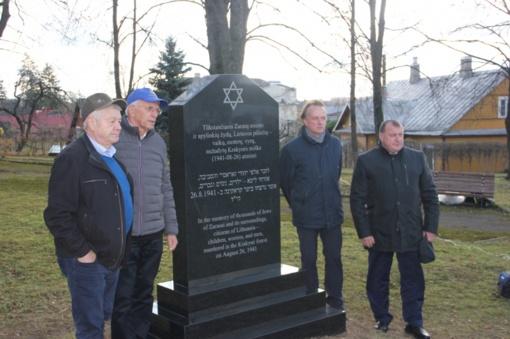 Zarasuose - paminklas Holokausto aukoms atminti