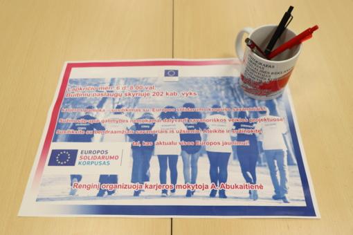 Europos solidarumo korpusas – galimybės jaunimui