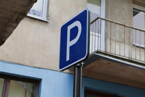 Vilniuje iki sausio pabaigos planuojama baigti automobilių stovėjimo zonų ženklinimo darbus