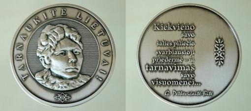 """Kviečiama teikti kandidatūras dėl apdovanojimo Gabrielės Petkevičaitės-Bitės atminimo medaliu """"Tarnaukite Lietuvai"""""""