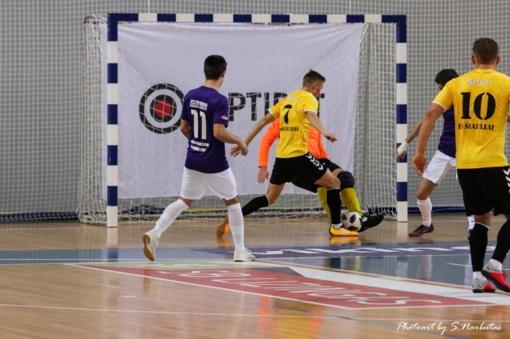 Pirmosios Optibet futsal A lygos rungtynės Šiauliuose
