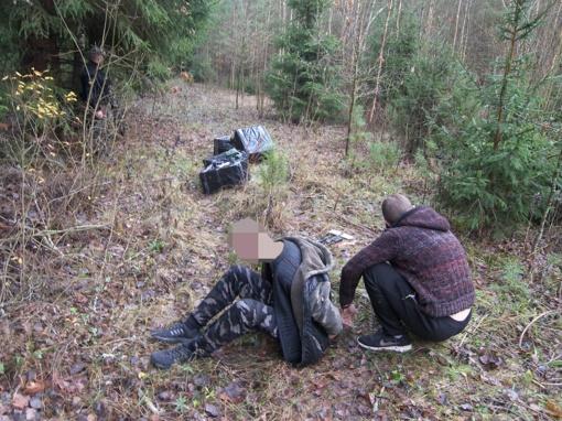 Miške kontrabandininkai įrengė slėptuvę rūkalams