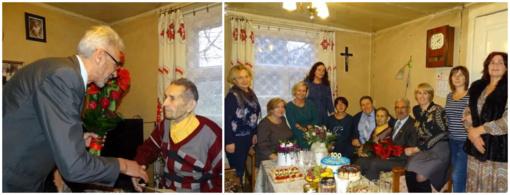Skuodo rajone gyvenančiam šimtamečiui – sveikinimai, gėlės, dovanos